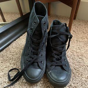Converse high tops all black